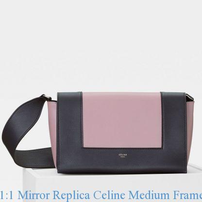 cc24391ab25f 1 1 Mirror Replica Celine Medium Frame Shoulder Bag In Liquorice ...