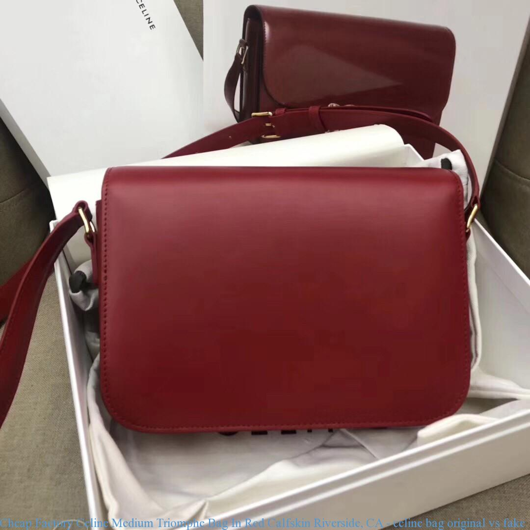 a2ed7d481aaa Cheap Factory Celine Medium Triomphe Bag In Red Calfskin Riverside