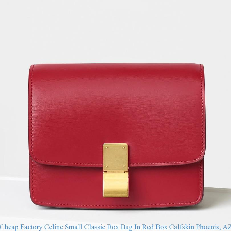 72386bc2b186 Cheap Factory Celine Small Classic Box Bag In Red Box Calfskin ...