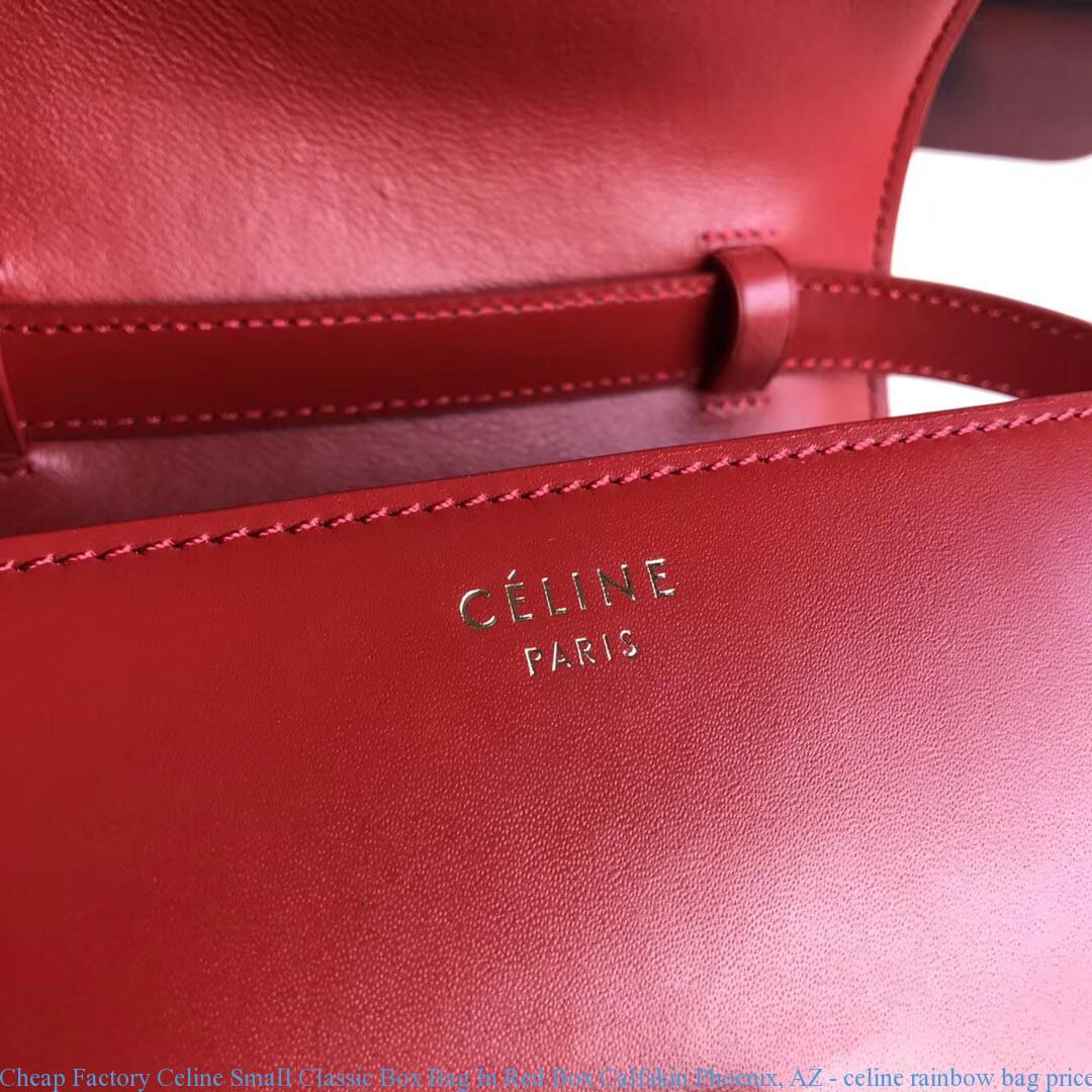 Cheap Factory Celine Small Classic Box Bag In Red Box Calfskin ... fed5851e5b5c4