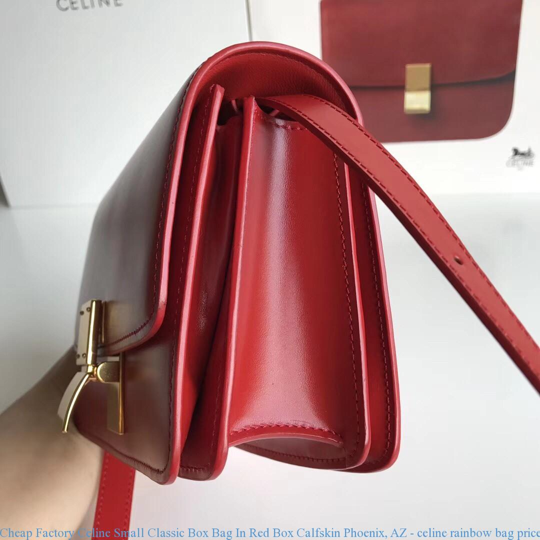 b2828f2f9b Cheap Factory Celine Small Classic Box Bag In Red Box Calfskin ...
