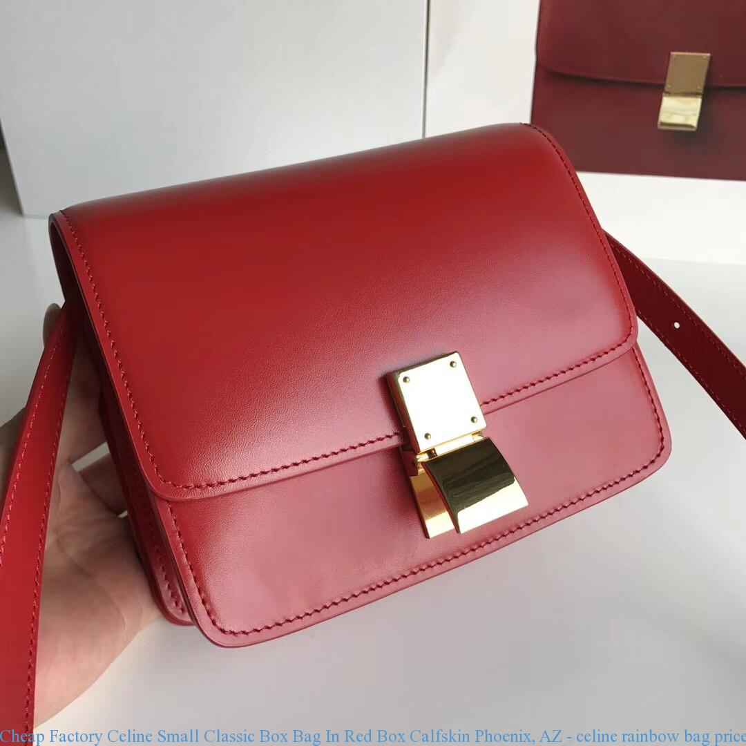 56f65d347ce4a Cheap Factory Celine Small Classic Box Bag In Red Box Calfskin ...