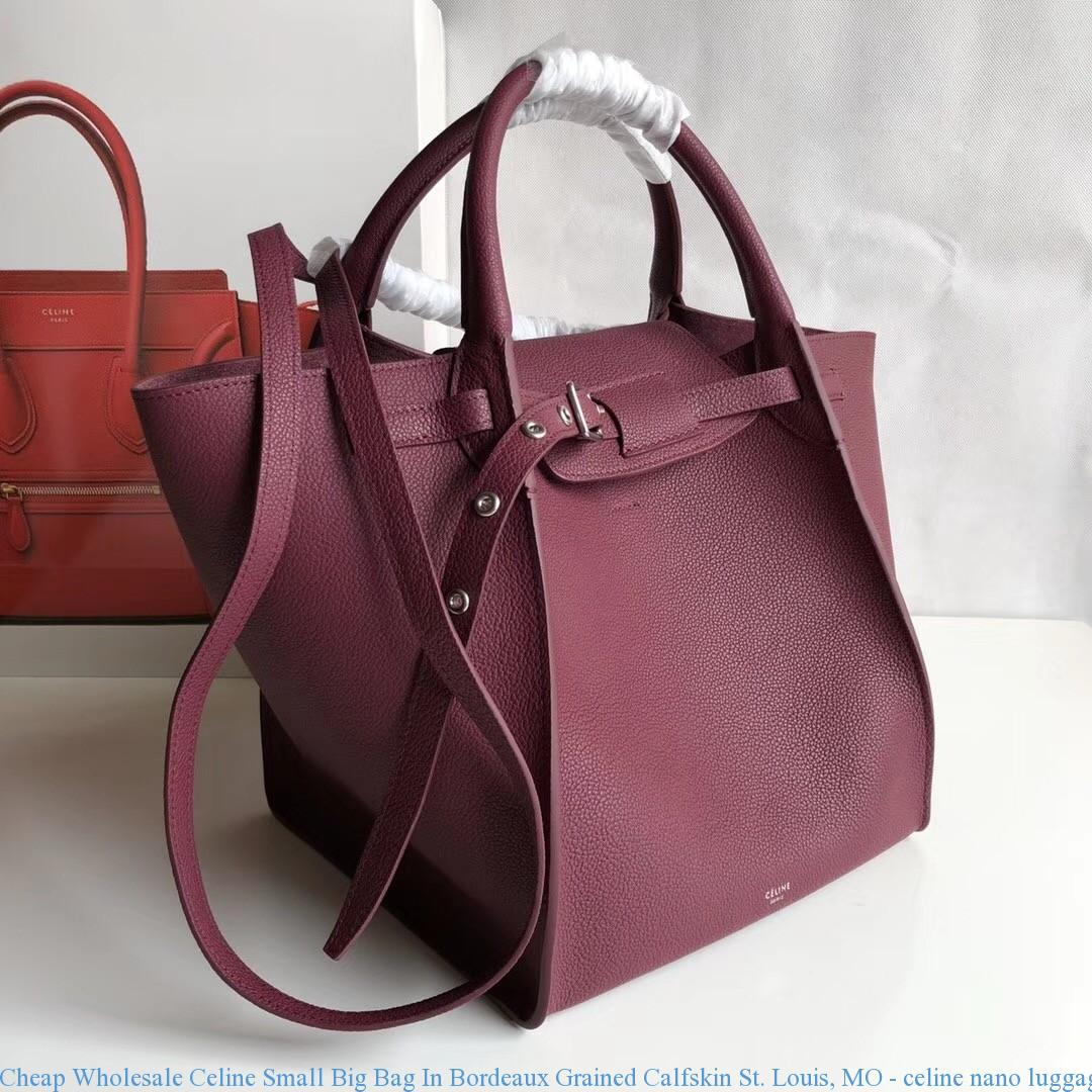 ef4f30daefa Cheap Wholesale Celine Small Big Bag In Bordeaux Grained Calfskin St. ...