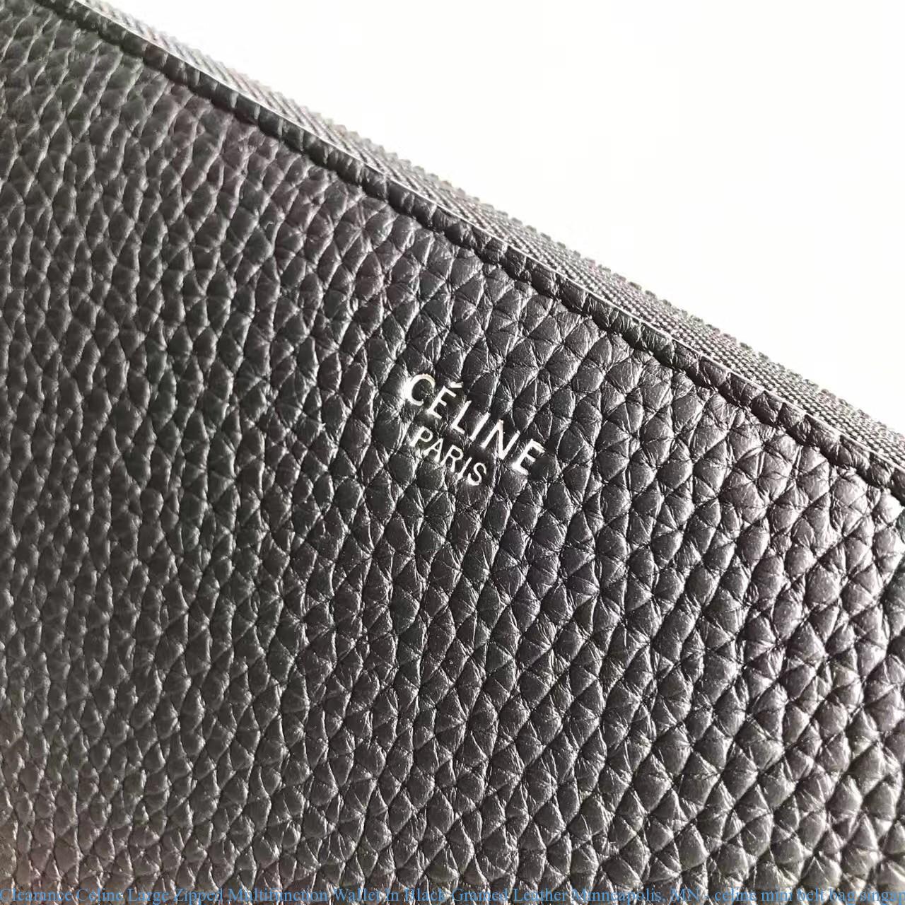 3cfbdac3ea7d Clearance Celine Large Zipped Multifunction Wallet In Black Grained ...