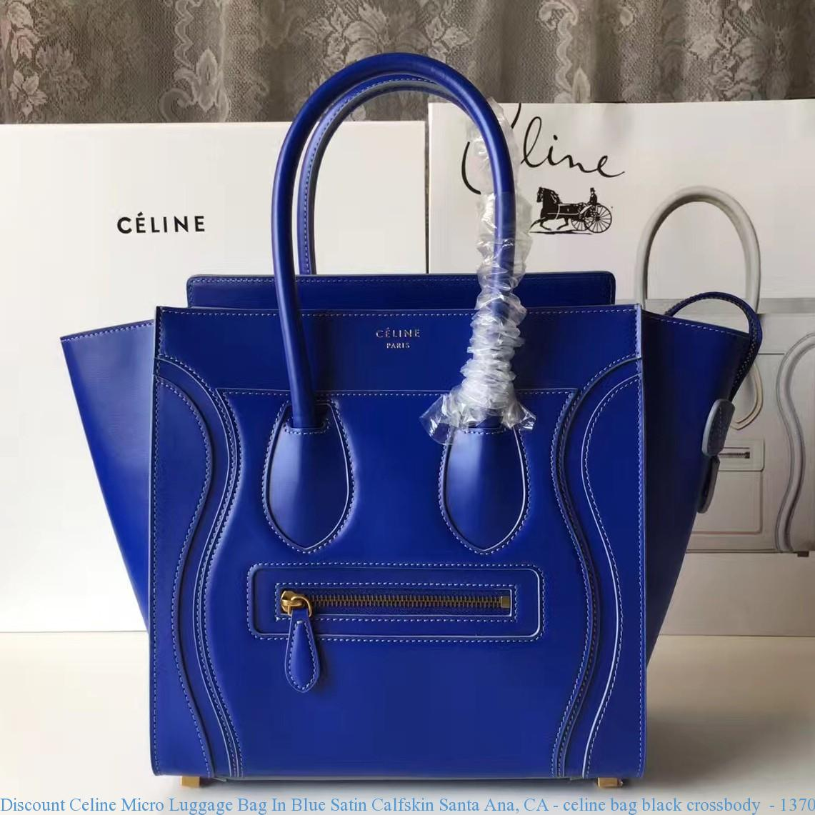 e88b6990c502 Discount Celine Micro Luggage Bag In Blue Satin Calfskin Santa Ana ...