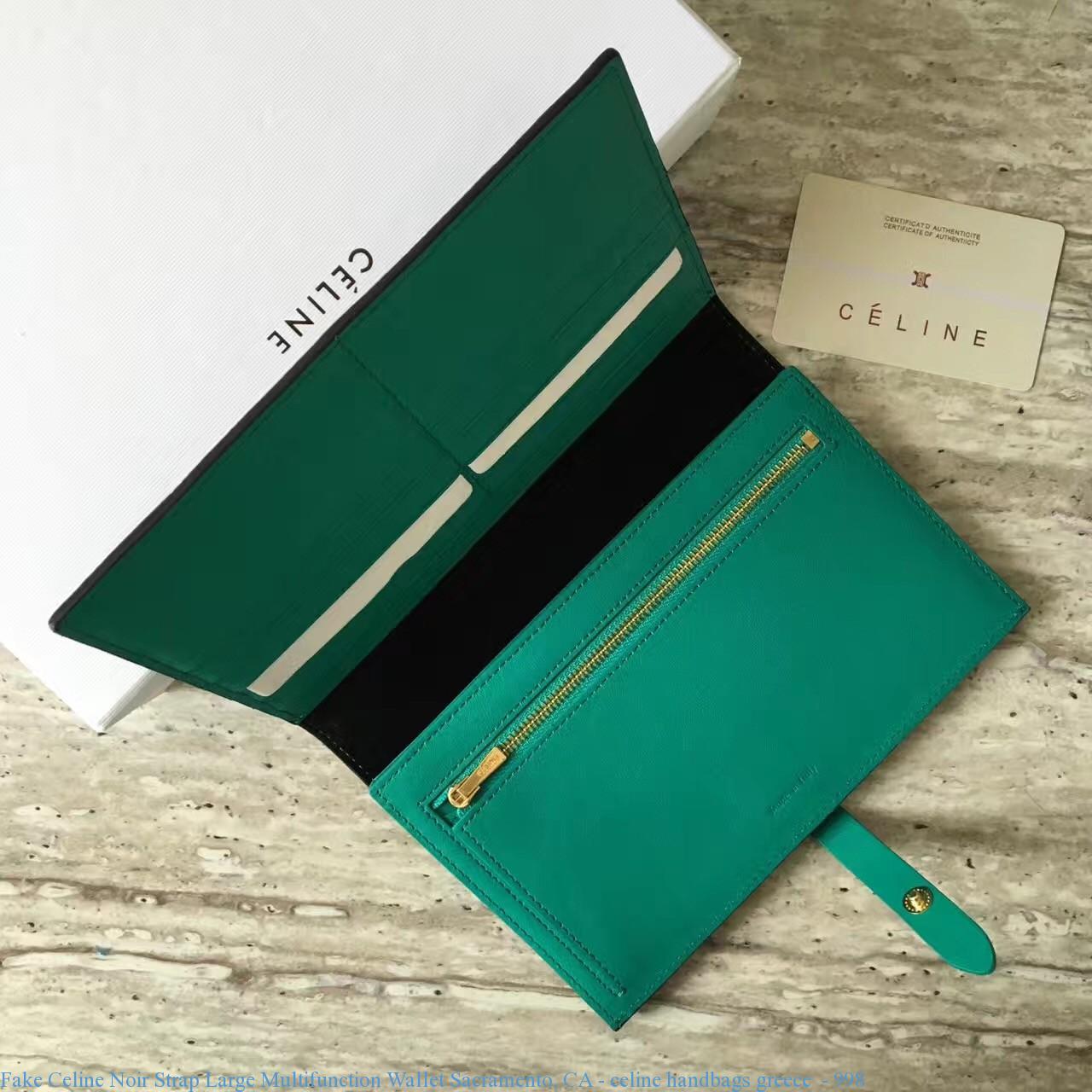 baa33a5e03d0 Fake Celine Noir Strap Large Multifunction Wallet Sacramento