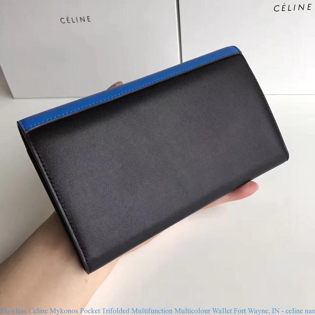 0818be978873 Flawless Celine Mykonos Pocket Trifolded Multifunction Multicolour Wallet  Fort Wayne