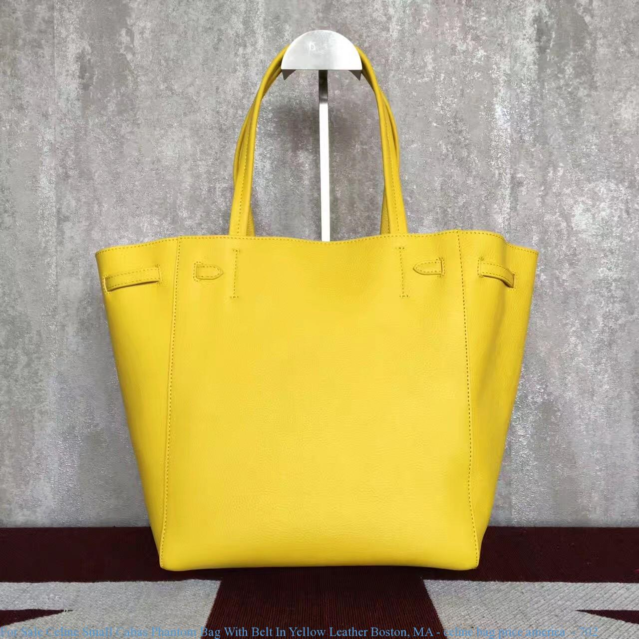 c62512ad5ca41 For Sale Celine Small Cabas Phantom Bag With Belt In Yellow Leather ...