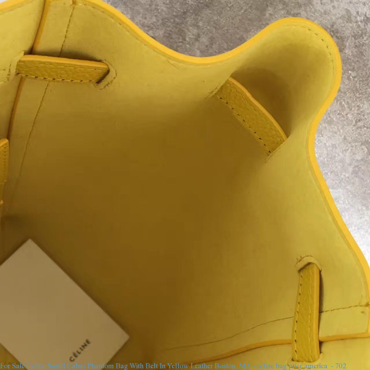 4161e464c For Sale Celine Small Cabas Phantom Bag With Belt In Yellow Leather ...