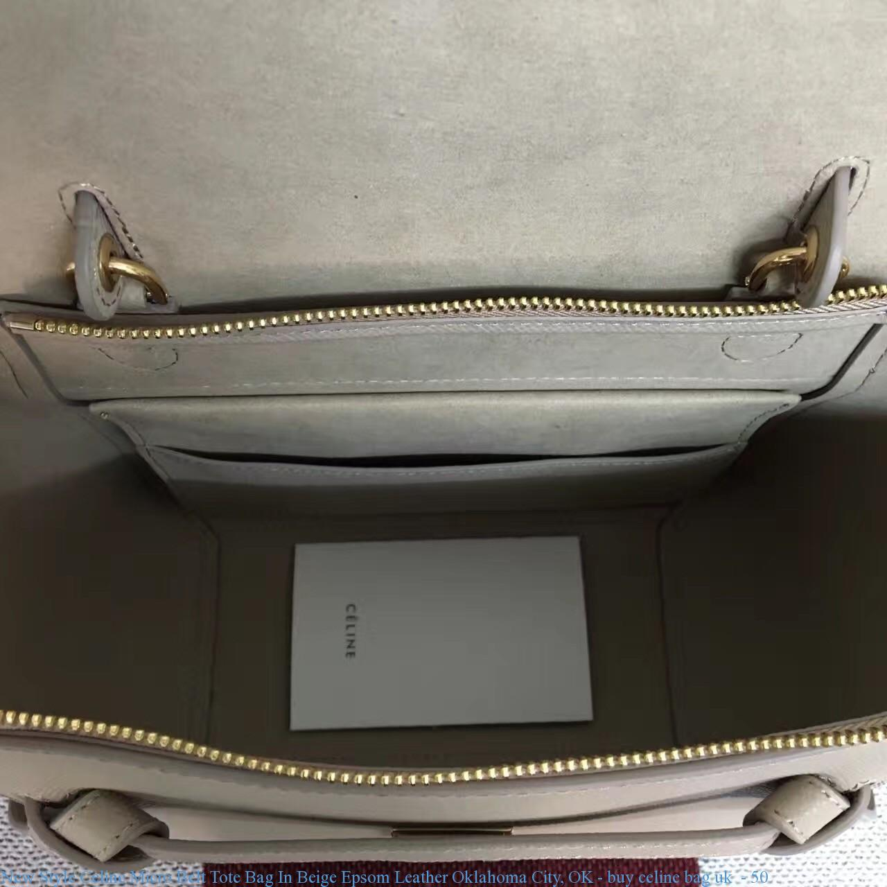 9ff5a8c274fe New Style Celine Micro Belt Tote Bag In Beige Epsom Leather Oklahoma ...