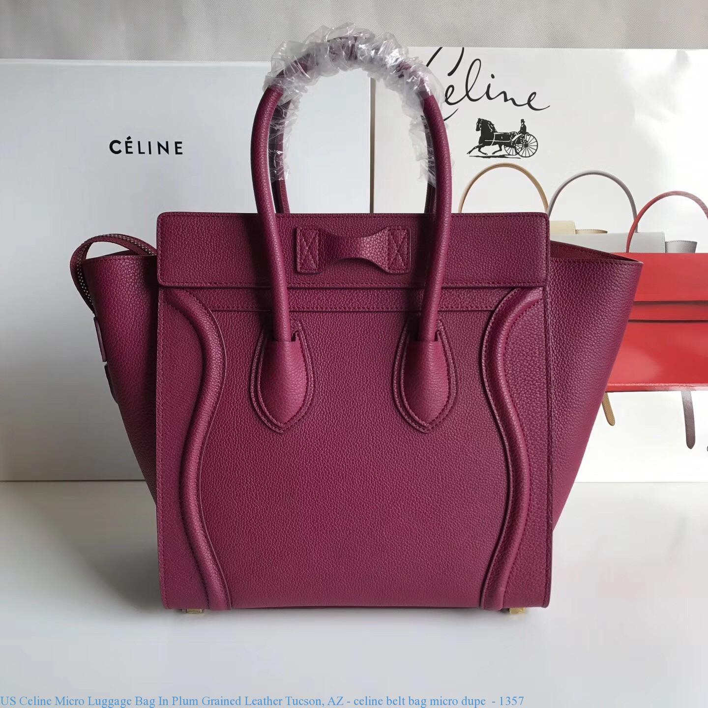 a0f3c8e7d96f5c US Celine Micro Luggage Bag In Plum Grained Leather Tucson, AZ ...